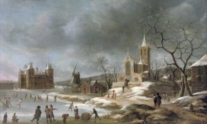 jan-abrahamsz-beerstraaten-amsterdam-1622-1666-a-winter-landscape-with-activities-on-the-ice-near-castle-buren1