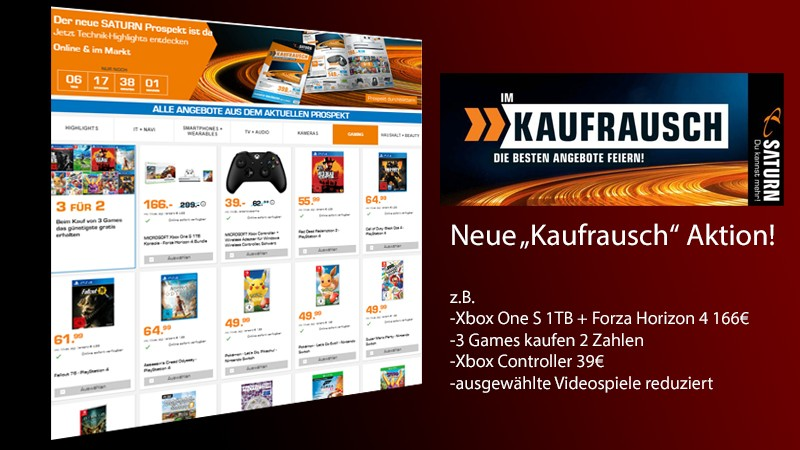 neue kaufrausch aktion z b xbox one s 1 tb forza. Black Bedroom Furniture Sets. Home Design Ideas